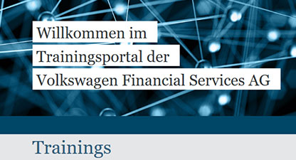 Volkswagen Financial Services - Training portal