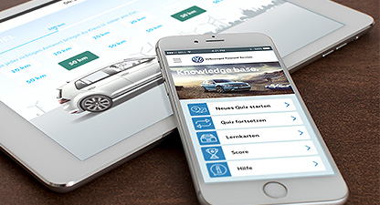 Volkswagen Financial Services – Mobiles Lernen - Quiz App