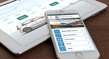 Volkswagen Financial Services – Mobiles Lernen - Quiz App